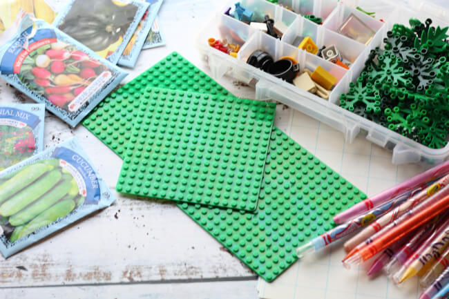1 LEGO GARDEN SUPPLIES How to Garden Plan With Kids Using LEGO