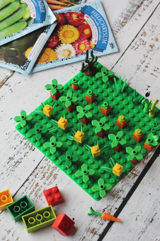 2 lego garden planning 1  LEGO GARDEN SUPPLIES How to Garden Plan With Kids Using LEGO