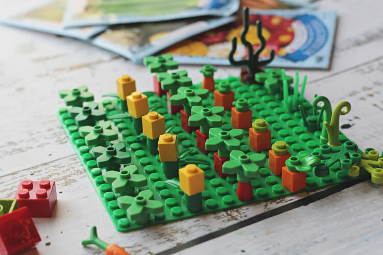 7 LEGO GARDEN FINAL How to Garden Plan With Kids Using LEGO