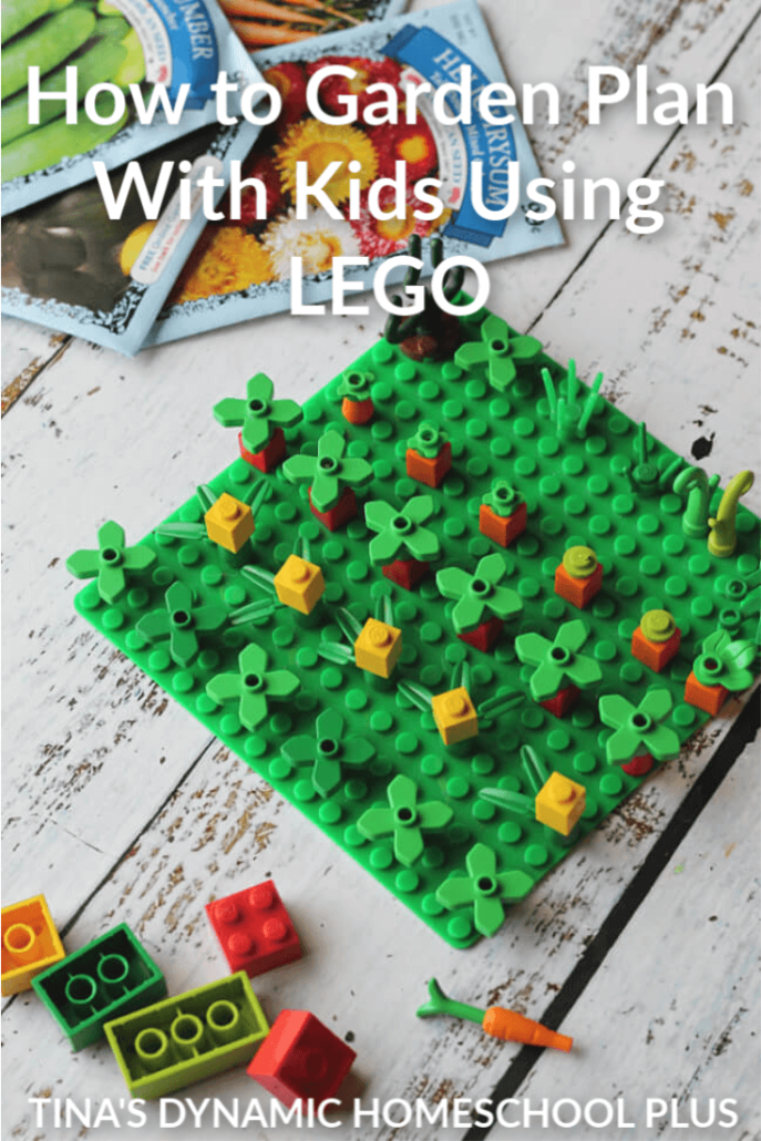 How to garden plan with kids using LEGO is a way to sneak in some learning. My kids, like so many others, love to create and build with LEGO so it is just a great hands-on natural extension to learning.  Click here for this fun LEGO garden activity for kids!