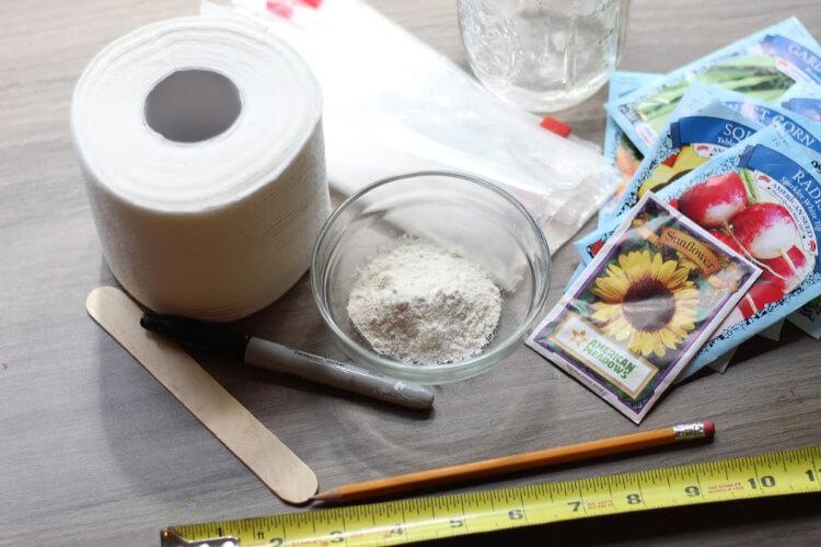 How to Easily Make Fun Seed Tape With Kids  @Tina's Dynamic Homeschool Plus
