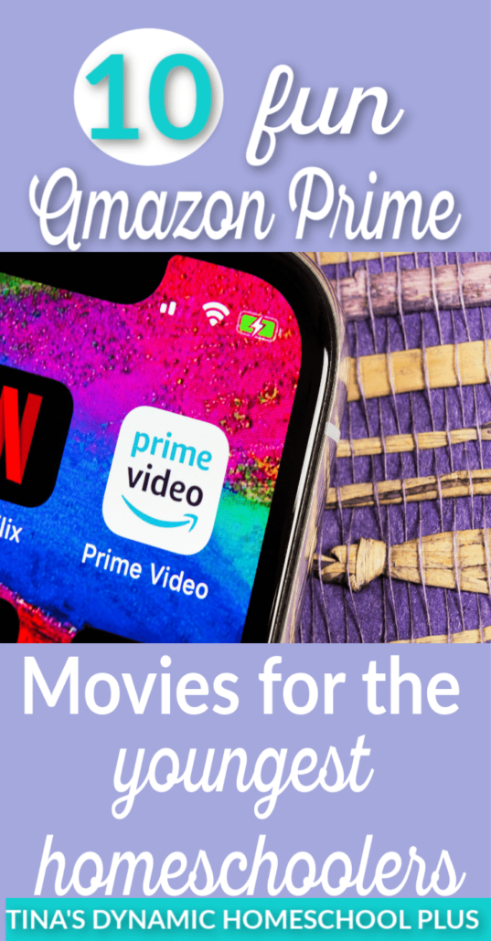 Occupying or teaching the youngest homeschoolers can be tough. Whether you need a break from the little dears or you need to give the older set of kids your time, you'll love these 10 fun Amazon Prime movies for the youngest homeschoolers.