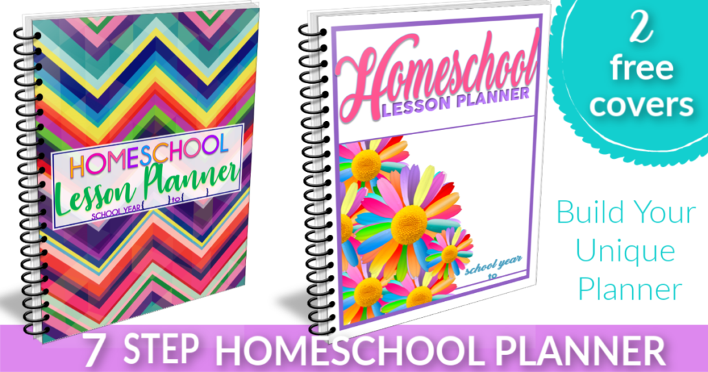 7 Step Free Homeschool Planner. Choose an AWESOME free cover and build your UNIQUE planner with hundreds of free forms | Tina's Dynamic Homeschool Plus!