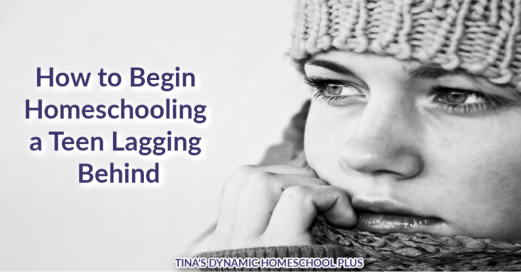 How to begin homeschooling a teen lagging behind is at the tip-top of the list for new homeschooler anxieties. Whether your teen is behind because of unplanned happenings in life, sickness, motivation, or natural struggles, CLICK here for four solid tips to give you an easy starting point!! #homeschool #newhomeschooler #homeschoolingteens #howtohomeschool