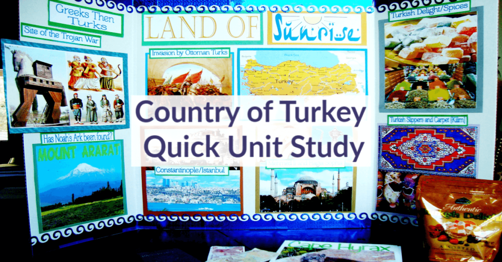 Country of Turkey Quick and Fun Unit Study at Tina's Dynamic Homeschool Plus
