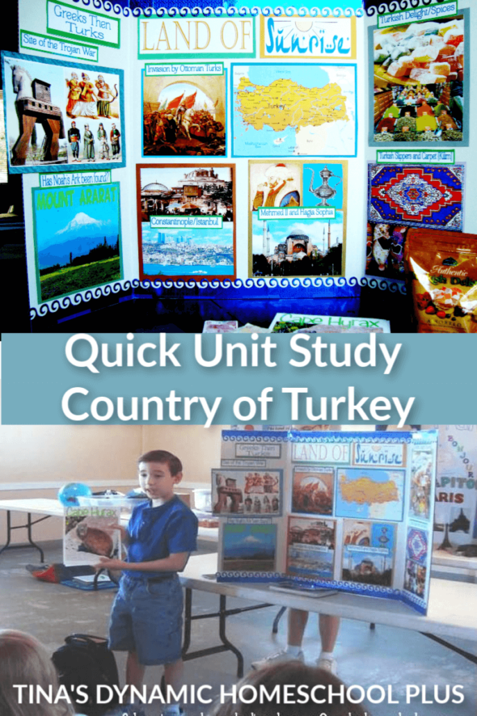 Quick and Fun Homeschool Unit Study about the Country of Turkey. You'll love it over at Tina's Dynamic Homeschool Plus. CLICK HERE!
