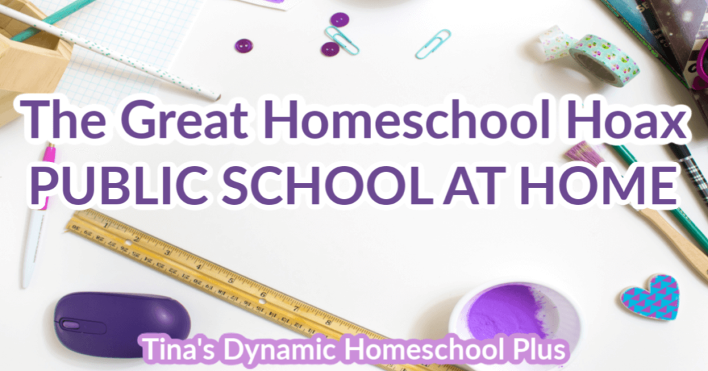 The Great Homeschool Hoax – Public School At Home. Understanding the two COMPLETELY different approaches is key by Tina Robertson