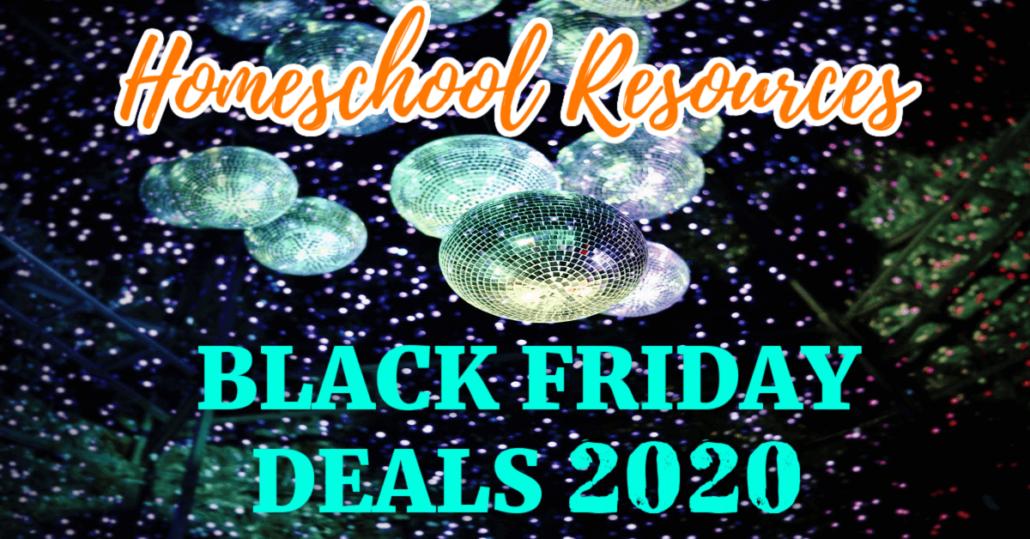 BEST Homeschool Resources Black Friday Deals 2020 (Cyber Monday)