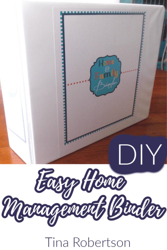 DIY Easy Home Management Binder