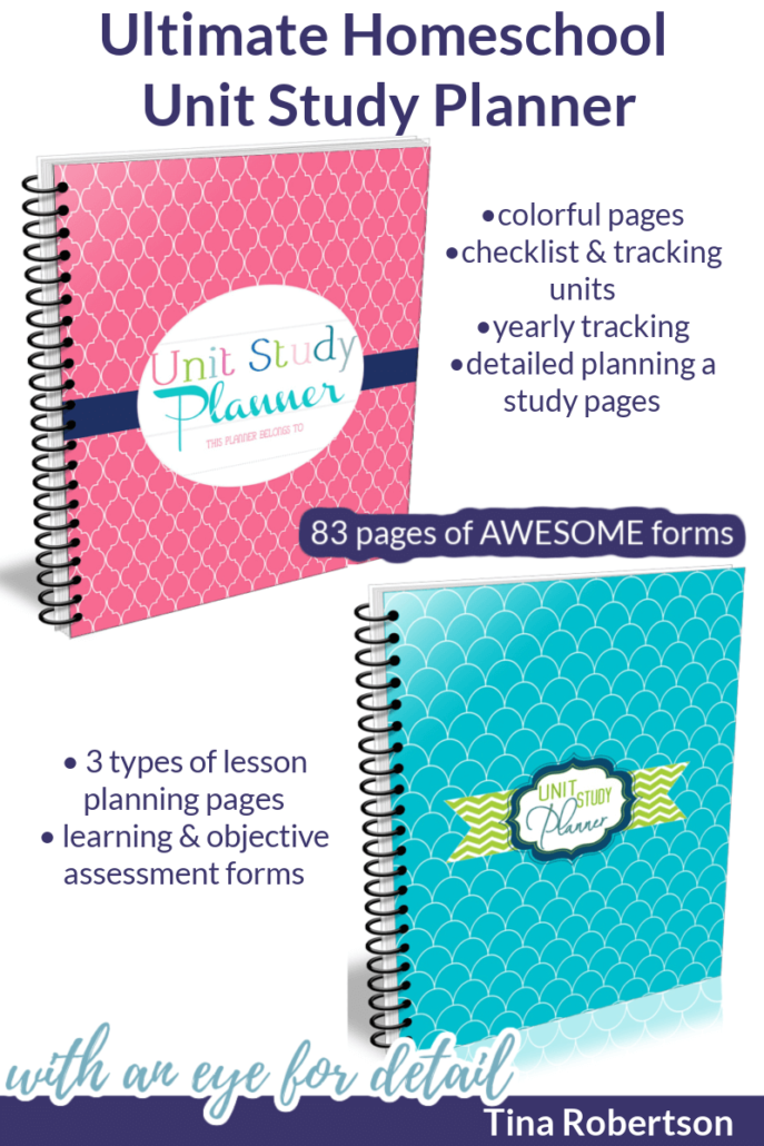 Ultimate DIY Homeschool Unit Study Planner Created by Tina Robertson after years of creating homeschool unit studies. You'll LOVE the eye for detail she has. CLICK HERE!