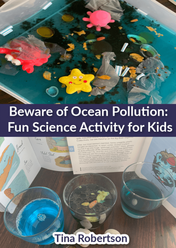Beware of Ocean Pollution: Fun Science Activity for Kids. It's important that we bring it to our children's attention now so they can make responsible choices and be part of the clean up solution! The best way to do this of course is through a fun hands-on activity that lets them see first hand how easily water is polluted. You'll love this easy hands-on science! CLICK HERE to go there! #oceanpollution #handsonscienceforkids #homeschoolscience #oceanpollutionactivity
