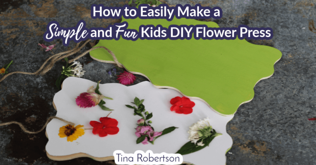 How to Easily Make a Simple and Fun Kids DIY Flower Press
