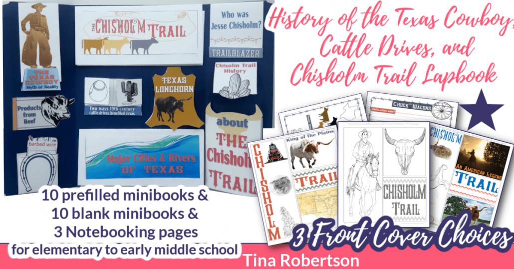 History of the Texas Cowboy, Cattle Drives, and Chisholm Trail Free Unit Study