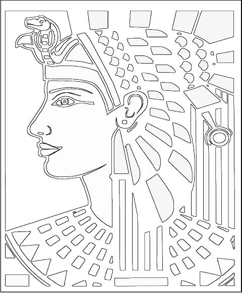 Ancient civilizations for Egyptian coloring page