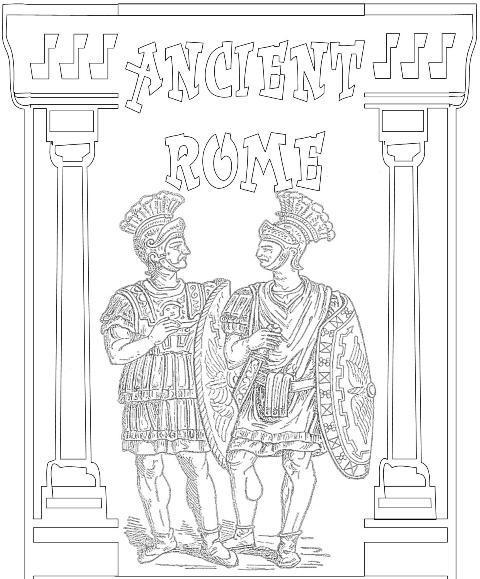 Ancient Civilizations Ancient Rome Printable Coloring